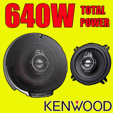 KENWOOD 640W 2Way totale 5.25 Pollici 13cm auto PORTA / scaffale COASSIALI ALTOPARLANTI COPPIA NUOVI