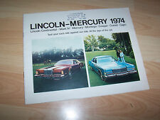 Catalogue /  Original brochure MERCURY  LINCOLN Gamme / Full line 1974 USA //