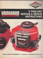 Printed 1989 BRIGGS & STRATTON VANGUARD V-TWIN OHV SERVICE/REPAIR MANUAL (101)