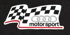 Audi Motorsport Sticker, Vintage Sports Car Racing Decal, Le Mans