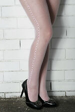 MEGA SALE NEW Baby PINK Fishnet with Loop Side Seam Pattern Soft Nylon TIGHTS