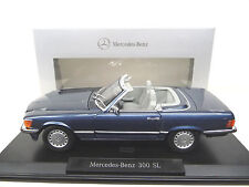 1:18 norev mercedes 300sl r107 medicina Blue dealer Edition nuevo New