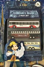 Disney Parks Diecast Bus 3 Pack Set Buses Transport Magical Express Cruise Line