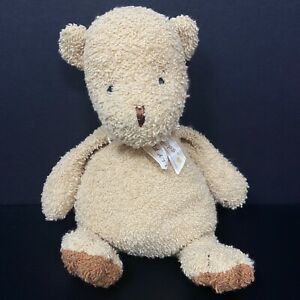 "Belly Flops Butter Bear Plush Tan Brown Terry Bow Baby Lovey 9"" Stuffed Prestige"