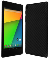 Skinomi Carbon Fiber Black+Screen Protector Cover for Google Nexus 7 2013 (LTE)