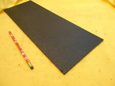 BLACK ABS FLAT STOCK machinable plastic sheet bar hardcell 3/16