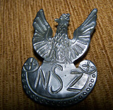 NSZ NATIONAL ARMED FORCES - POLISH WHITE EAGLE with Crown badge medal POLAND WP