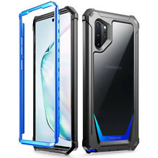 Galaxy Note 10 Plus Case,Poetic [Ultra Hybrid] Bumper Shockproof Cover Blue