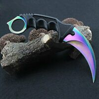High Grade Stainless Steel Sharp Hunting Knife w/ Plastic Handle Multi-color