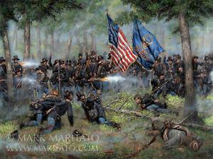 Mark Maritato Signed Civil War Art Print Brothers of War Iron Brigade Gettysburg