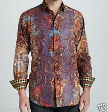 Robert Graham Intricate Paisley Abstract Embroidered Super Rare M Shirt NEW