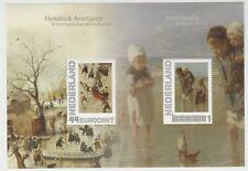 Nederland 2563-B-2 mapje en vel persoonlijke postzegels H Avercamp en J Israels