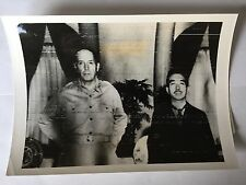 ww2 photo press  Hirohito et Gen. Mac Arthur 1945  B539
