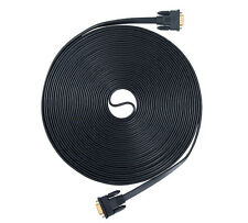 DTECH 65ft Long VGA Cable Male to Male 15 pin SVGA Monitor Computer Flat Cord