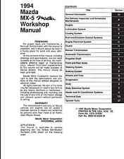 1994 Mazda Miata Workshop Manual + Wiring + Parts Catalog + Body Shop OEM PDF