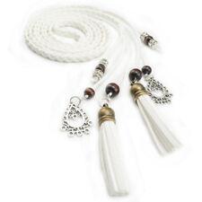 Fashion PU Leather Tassel Ladies Braided Belt Self-Tie Thin Waist Rope Belt