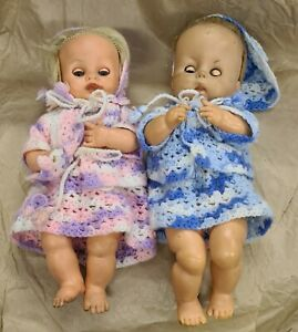 Two Vintage Dolls, for refurb, one 'Chiltern' boy approx 1950s or 1960s