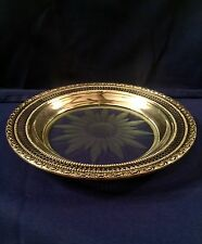 Antique Frank M Whiting & Co Sterling And Glass Plate