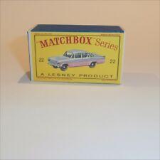 Matchbox Lesney 22 b Vauxhall Cresta empty Repro D style Box