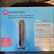 Motorola MG8702 DOCSIS 3.1 Cable Modem + AC3200 WiFi Wireless Router MG8702-10