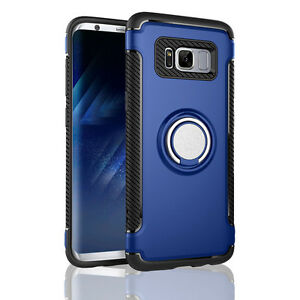 For Samsung Galaxy S8 Plus Ring Stand Case Shockproof Hybrid  Protect Hard Cover