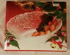 Mikasa Crystal Holiday Bells 10 Inch Oval Bowl
