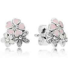 PANDORA Ohrstecker Ohrringe Earrings 290686 ENMX Blüten Silber Emaille