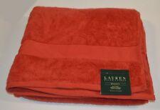 """Ralph Lauren Wescott Stadium Red Bath Towel 30"""" X 56"""" Absorbent Cotton"""