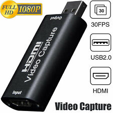4K 1080p HD HDMI to USB2.0 Video Audio Capture Card Recorder Windows Android Lot