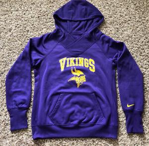 Minnesota Vikings Nike Thermafit Womens Large Purple Hoodie Sweatshirt NWOT