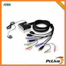 Aten CS-692 2-Port USB HDMI Audio Cable KVM Switch with Remote Port Selector