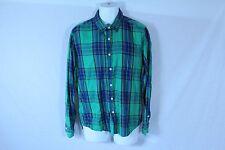 Men's Green & Blue BLUENOTES Long Sleeve Plaid Casual Dress Shirt - Size M