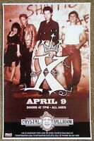 X Band 2009 Gig POSTER Portland Oregon Exene Cervenka John Doe Concert
