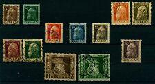 (Bay13w) Bayern 1911 , Michel Nr. 76 II - 87 II,gestempelt, MK 88,00 €
