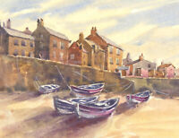 Clifford H. Thompson (1926-2017) - Contemporary Watercolour, Fishing Village