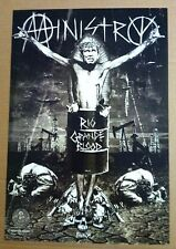 MINISTRY Retail 2006 PROMO POSTER for Rio Grande  CD USA 19x13 NEVER DISPLAYED