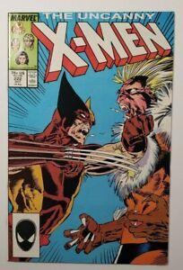 Uncanny X-Men #222 NM 9.4 - Wolverine vs Sabretooth!