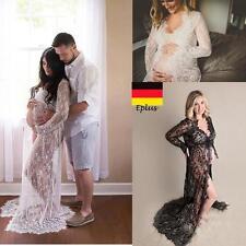 Lace Schwangere Kleid Elegant Umstandsmode Kostüme Schwangere Fotoshooting