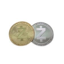 2PCS Gold/Silver Plated Bitcoin Coin Collectible Gift Coin Art Collection w/ Cas