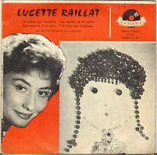 """LUCETTE RAILLAT """"LA MOME AUX BOUTONS"""" 50'S EP POLYDOR 20747"""