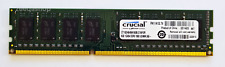 Crucial 8GB DDR3 1600MHz Desktop PC RAM ~~ PC3 12800U Memory 240pin 1x8GB DIMM