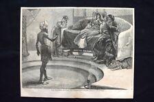 San Giovanni Battista che rimprovera Erode,di Boyd Moughton Incisione del 1876