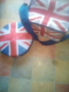 Union Jack Themed Lunchtime Set. Bag With Strap And Salad Bowl.