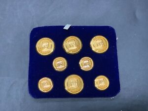 VINTAGE OLD COURSE BUTTON ST ANDREWS GOLF BUTTONS SET
