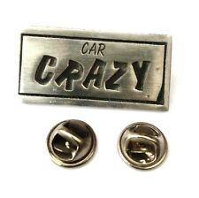 Car Crazy Handcrafted English Pewter Lapel Pin Badge Last One