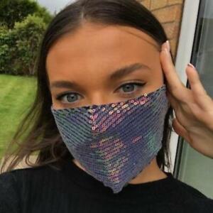 Sequin Face Masks - Shopping, Party, Wedding - Sparkle - Reusable Bling