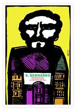 Movie Poster 4 film Saint BERNARDO.Modern art.World Graphic Design room decor.