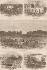 Tornado Devastation. Mount Carmel, Illinois. Harper's Weekly. 1877 Engraving