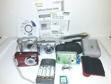 Canon PowerShot A480 A530 A560 SONY (4) AA Batteries Cycle Energy+Charger+More