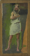 Künstlerische Malerei von 1900-1949 aus Holz im Jugendstil